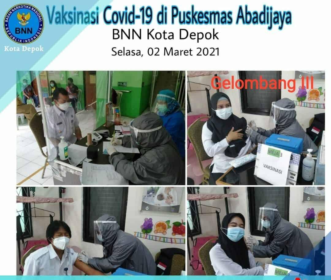 Vaksinasi COVID 19 Bagi Pegawai BNN Kota Depok